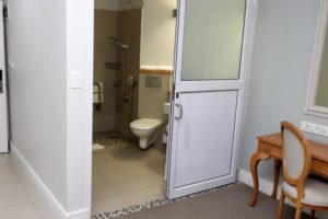 Paraplegic bath room at The Riverside Hotel Durban North