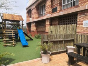 Kids Play Area Outdoor Jungle Gym at The Riverside Hotel Durban North
