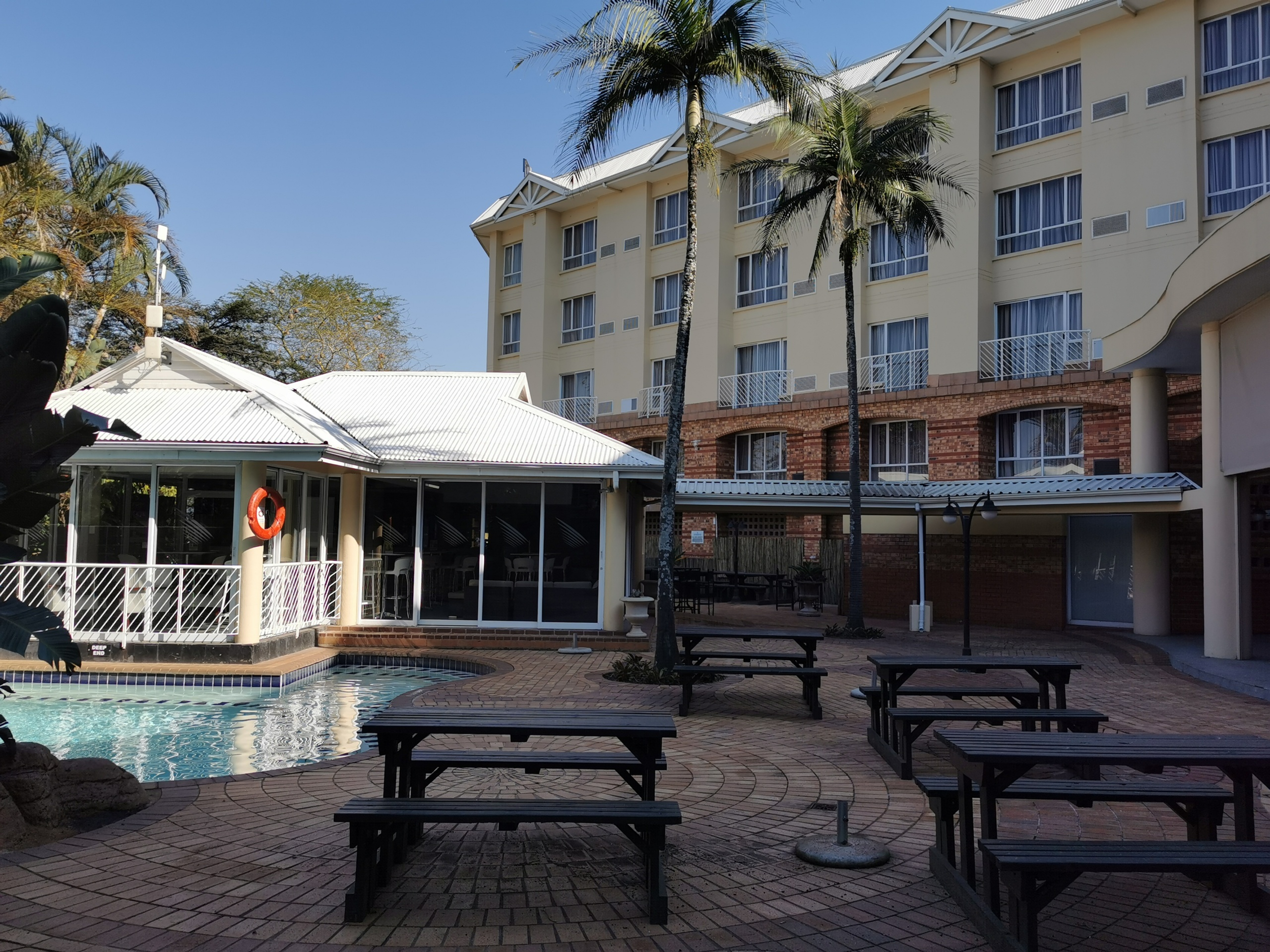 Pool Side Bar at The Riverside Hotel in Durban