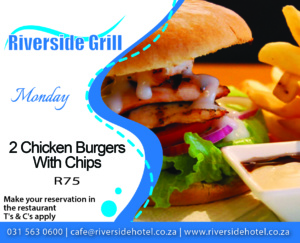 Riverside Grill Monday Burger Special