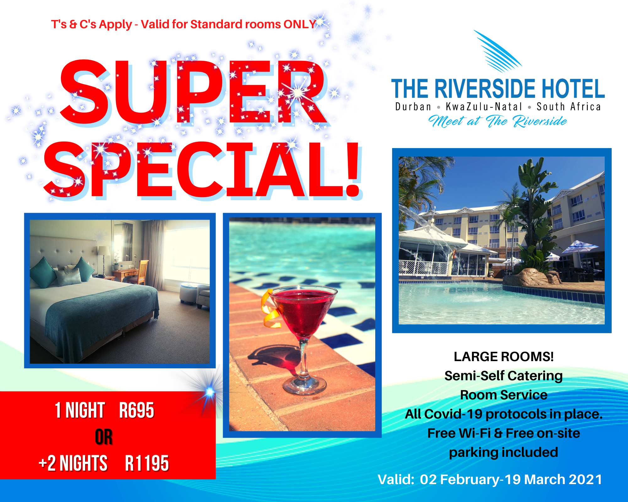 Durban Hotel Accommodation R695 per night