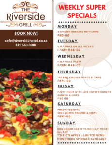 riverside hotel daily specials