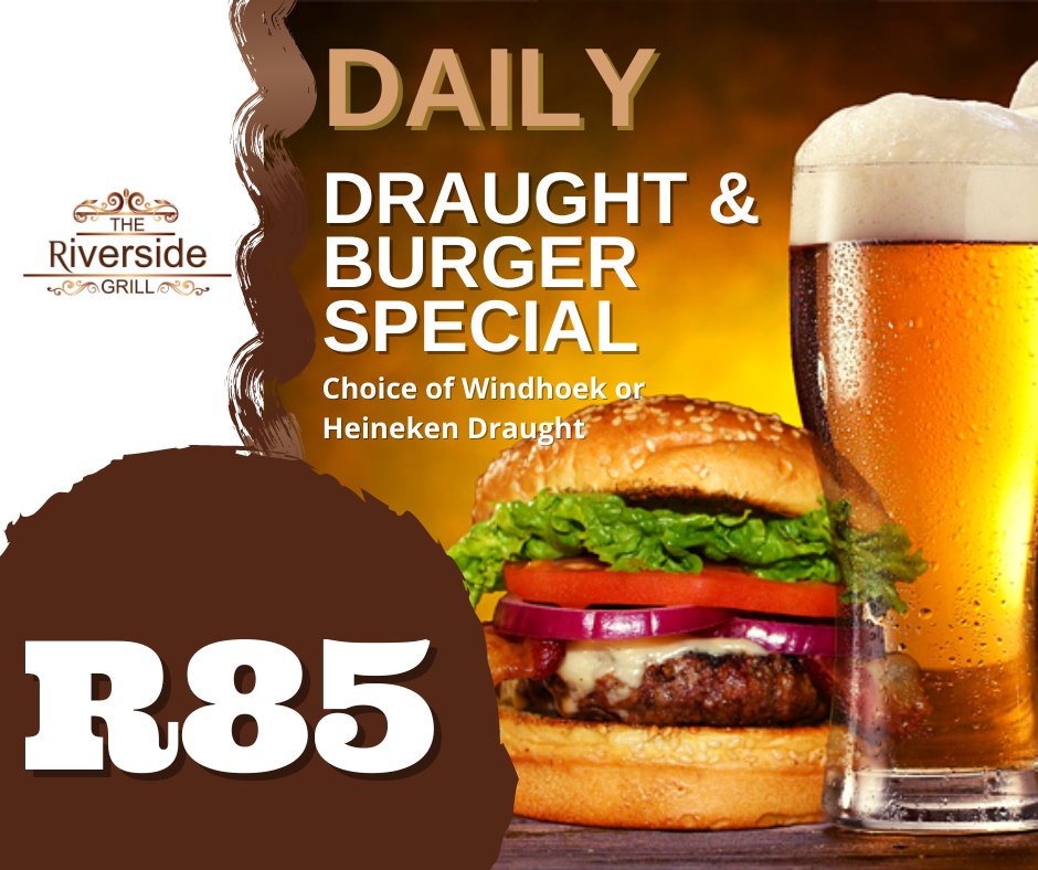 draught and burger special
