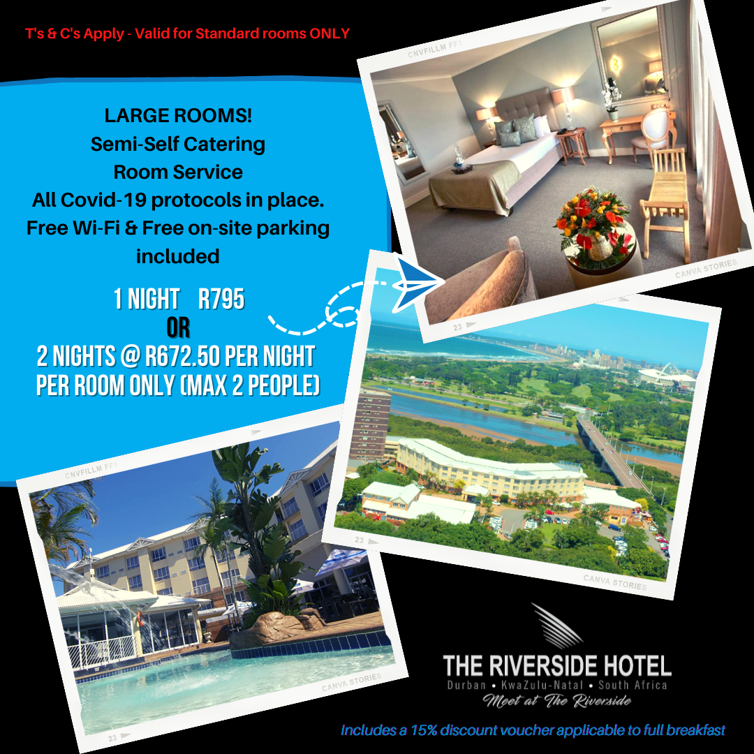 Hotel Accommodation Special R 695pn in Durban