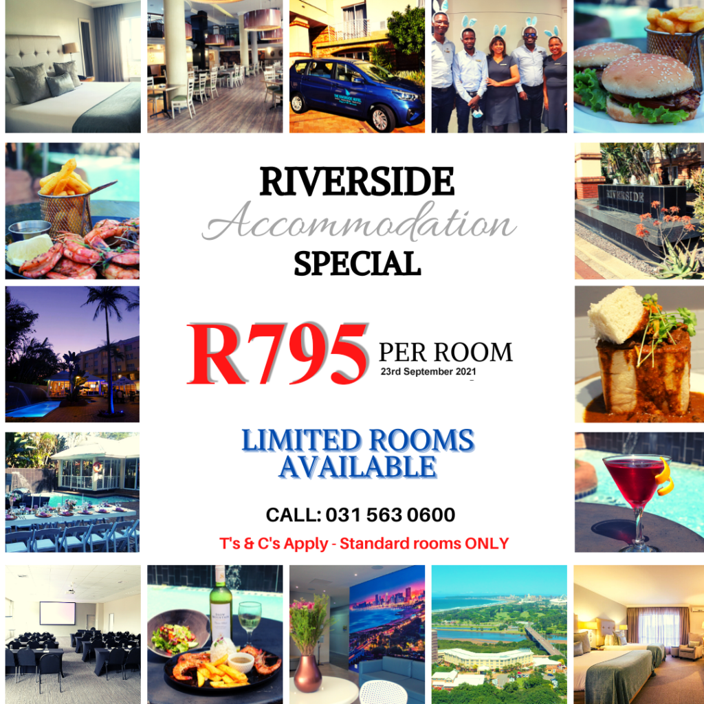 RIVERSIDE hotel accommodation special